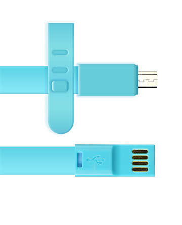 Micro USB Charger 3ft Long - Blue